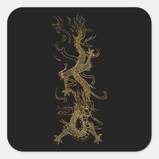 GOLDEN DRAGON Asian Art Sticker Series