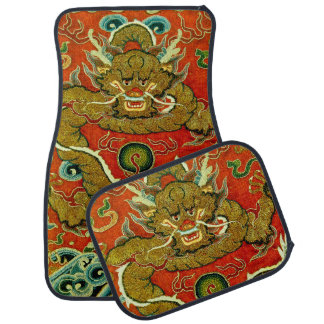 Golden dragon Chinese embroidery Qing dynasty Car Mat