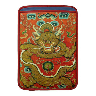 Golden dragon Chinese embroidery Qing dynasty Sleeve For MacBook Air