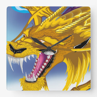 Golden Dragon Clock