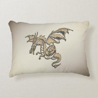 Golden Dragon Decorative Cushion