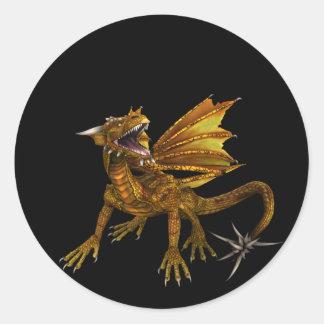 Golden Dragon Design 1 :: Fantasy Stickers