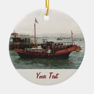 Golden Dragon Ferry Hong Kong Christmas Ornament