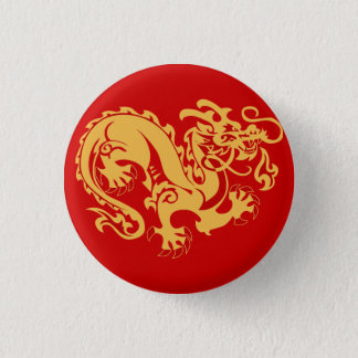 Golden Dragon Good Luck Button