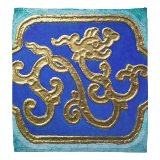 Golden Dragon Head Kerchief