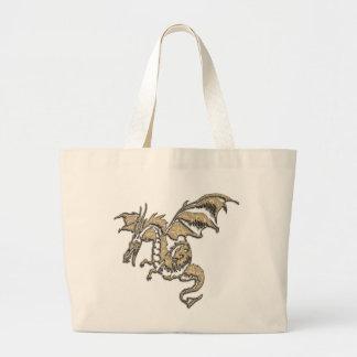 Golden Dragon Large Tote Bag