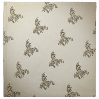 Golden Dragon Napkin