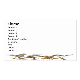 Golden Dragon Of Buddhan Profile Card Pack Of Standard Business Cards
