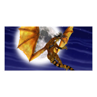 Golden Dragon Custom Photo Card