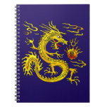 Golden Dragon Spiral Note Book