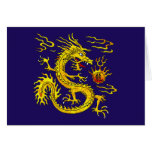 Golden Dragon Stationery Note Card
