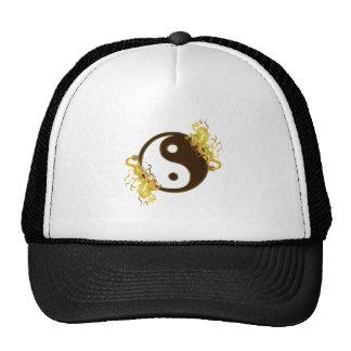 Golden Dragon Yin Yang Cap