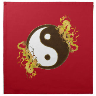 Golden Dragon Yin Yang Napkins