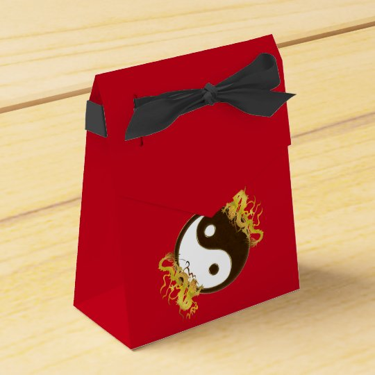 Golden Dragon Yin Yang Party Favour Boxes