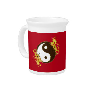 Golden Dragon Yin Yang Pitcher