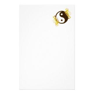 Golden Dragon Yin Yang Stationery