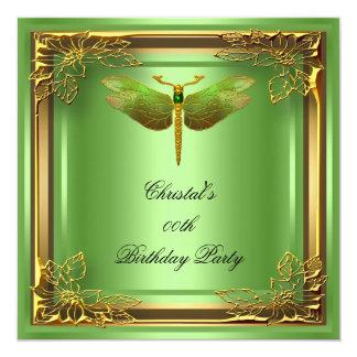 Golden Dragonfly Elite Elegant Birthday Party Card