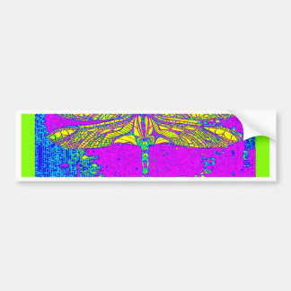 Golden Dragonfly- Green & Purple Gifts by Sharles Bumper Sticker
