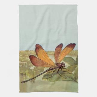 Golden Dragonfly Tea Towel