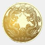 Golden Dragons Envelope Sealer sticker