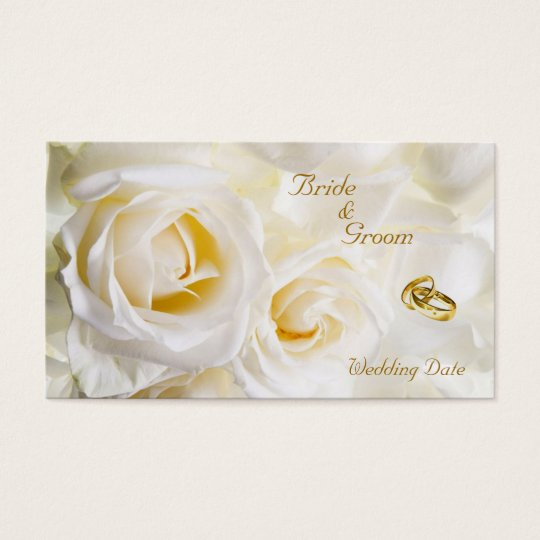 Golden Dream Wedding Favour Tag