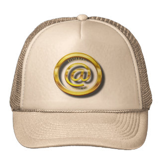 Golden E-Mail Symbol 3D With Shadows Cap