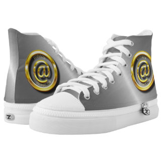 Golden E-Mail Symbol 3D With Shadows High Tops