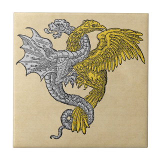 Golden Eagle and Silver Dragon Tile