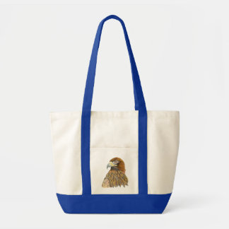 Golden Eagle Bird Watercolour Painting Artwork Tote Bag