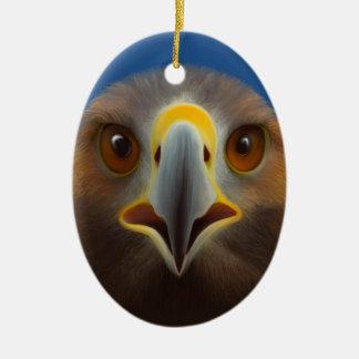 Golden Eagle Ceramic Oval Decoration