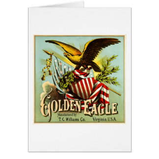 Golden Eagle Chewing Tobacco Label Vintage Greeting Card