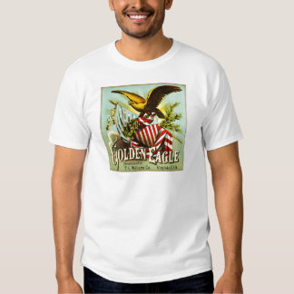 Golden Eagle Chewing Tobacco Label Vintage T-shirt