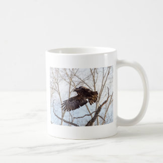 Golden Eagle in Flight Basic White Mug
