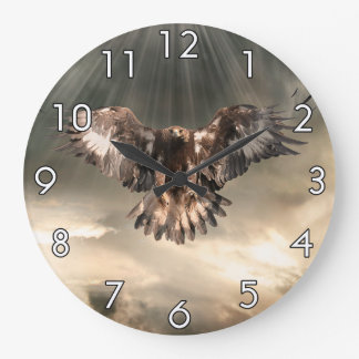 Golden Eagle Large Clock