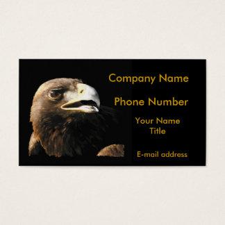 Golden Eagle Portrait Business Card