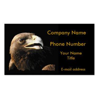 Golden Eagle Portrait Pack Of Standard Business Cards