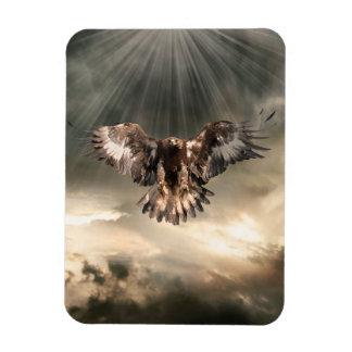 Golden Eagle Rectangular Photo Magnet