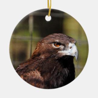 Golden Eagle Round Ceramic Decoration