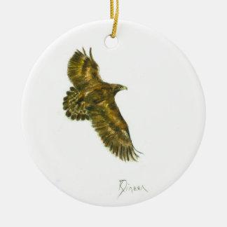 Golden Eagle round ornament