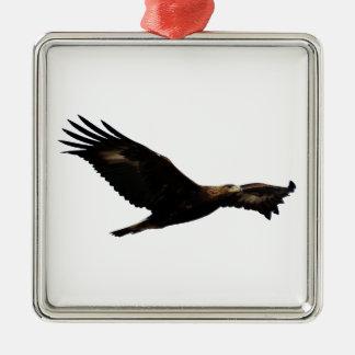 Golden Eagle Soaring Christmas Ornament