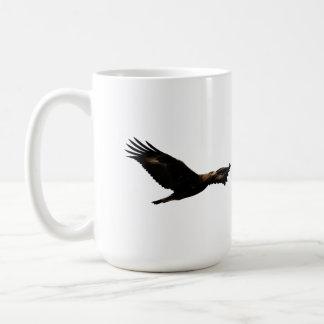 Golden Eagle Soaring Basic White Mug