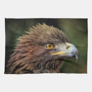 Golden eagle tea towel