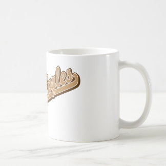 Golden Eagles in Gold and Brown Basic White Mug