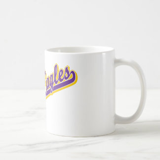 Golden Eagles in Gold and Purple Coffee Mugs