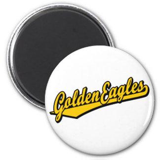 Golden Eagles script logo in gold 6 Cm Round Magnet