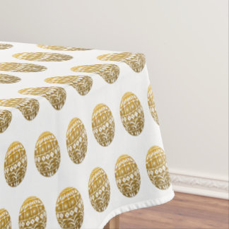Golden Easter Eggs Tablecloth