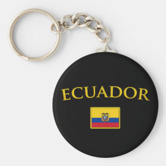 Golden Ecuador Key Ring