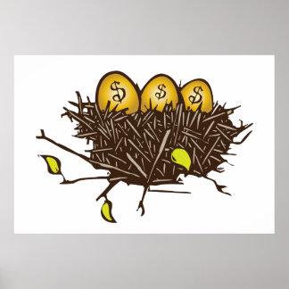 Golden Eggs Print