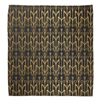 Golden Egyptian Wheat Color Barley Art Deco Bandannas