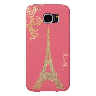 Golden Eiffel Tower Custom Samsung S6 Case